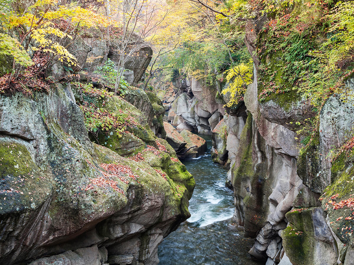 Akiu Onsenkyo Hot Springs (Akiu Otaki Falls, Rairai-kyo Gorge)_1