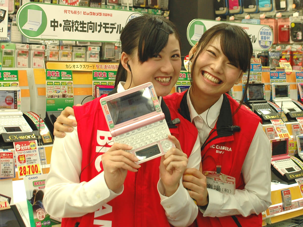 Shopping at electronics stores(BIC CAMERA)_2