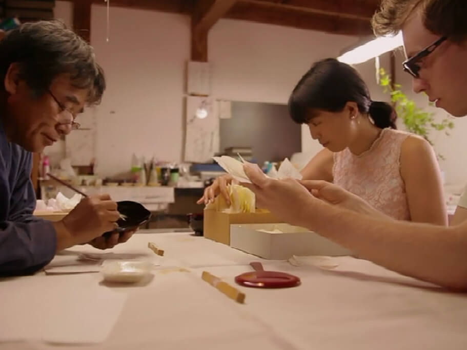 Experience of making the traditional Aizu craft of Makie (lacquerware craft)_2