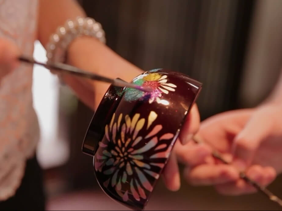 Experience of making the traditional Aizu craft of Makie (lacquerware craft)_3