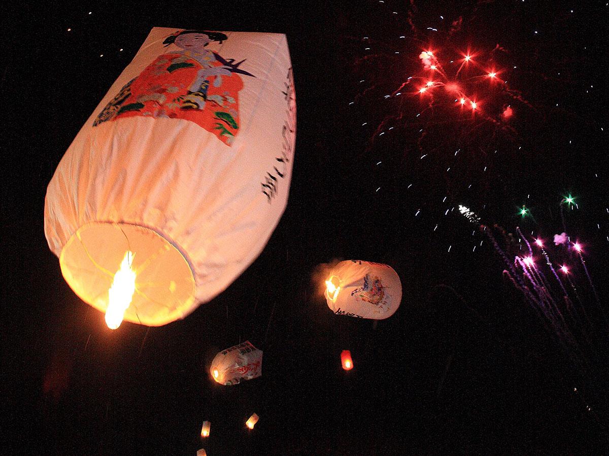 上桧木内放飞纸气球_3