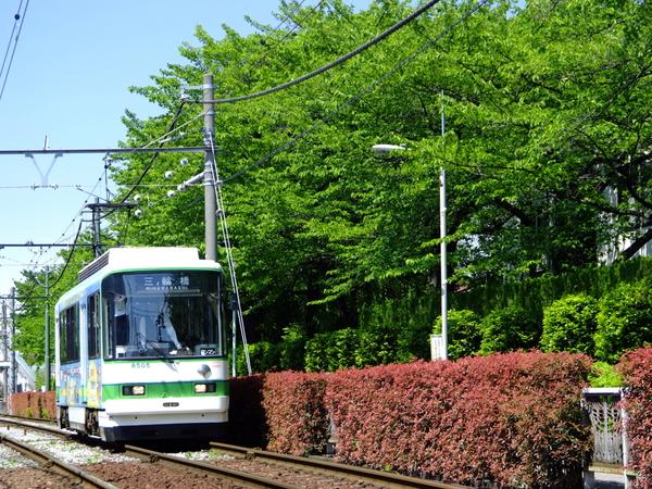 A lo largo de la línea municipal de Arakawa