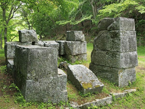 Restos de la mina de hierro y de los altos hornos de Hashino